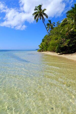 Clear water at Makahaa island near Tongatapu island in Tonga. Kindom of Tonga is an archipelago comprised of 169 islands