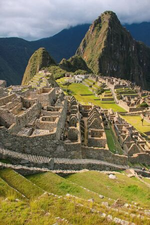 Inca citadel Machu Picchu in Peru. In 2007 Machu Picchu was voted one of the New Seven Wonders of the World. Editorial