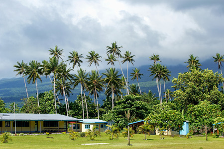 architecture bungalow: Typical fijian house in Lavena village on Taveuni Island, Fiji. Taveuni is the third largest island in Fiji.