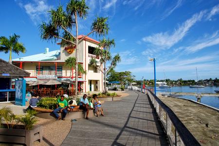 Waterfront on Denarau Island, Viti Levu, Fiji. Denarau Island is the largest integrated resort in the South Pacific. 新聞圖片
