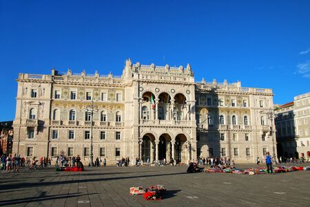 Government Palace on Piazza Unita dItalia in Trieste, Italy. Trieste is the capital of the autonomous region Friuli-Venezia Giulia