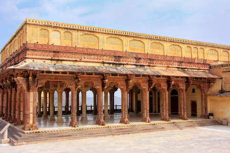 Diwan-i-Am - Hall of Public Audience in Amber Fort,  Rajasthan, India.  Here the maharaja held audience and received the petitions of his subjects.