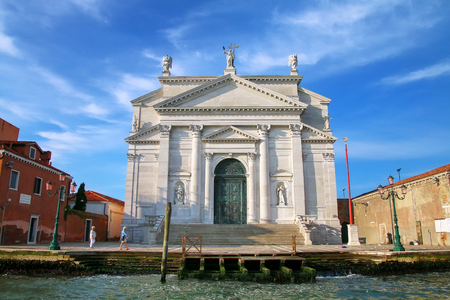 délivrance: Basilica del Santissimo Redentore on Giudecca island in Venice, Italy. It was built as a votive church to thank God for the deliverance of the city from a major outbreak of the plague. Banque d'images