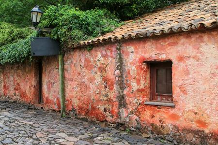 Calle de los Suspiros (Street of Sighs) in Colonia del Sacramento, Uruguay. It is one of the oldest towns in Uruguay