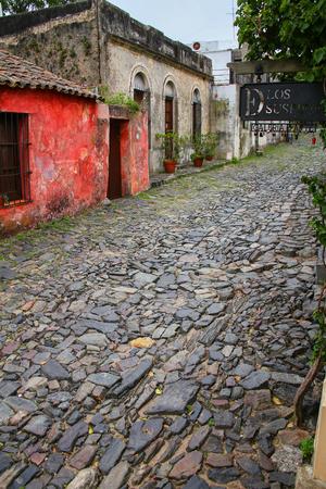 colonia del sacramento: Calle de los Suspiros (Street of Sighs) in Colonia del Sacramento, Uruguay. It is one of the oldest towns in Uruguay