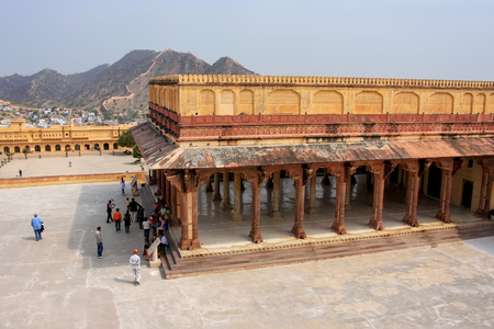 petitions: Diwan-i-Am - Hall of Public Audience in Amber Fort,  Rajasthan, India.  Here the maharaja held audience and received the petitions of his subjects.