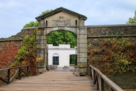 Porton de Campo (City Gate) in Colonia del Sacramento, Uruguay. It is one of the oldest towns in Uruguay Imagens