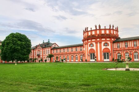 Biebrich Palace in Wiesbaden, Hesse, Germany. It served as the ducal residence for the independent Duchy of Nassau from 1816 until 1866. Stock Photo