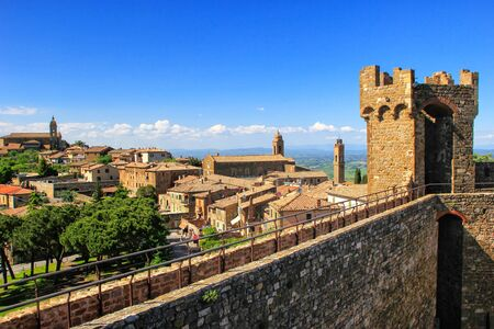 Fortress and town of Montalcino in Val dOrcia, Tuscany, Italy. Stock Photo