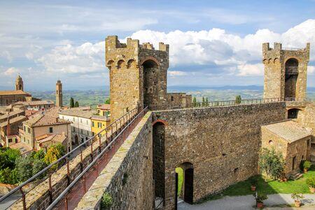 Montalcino Fortress in Val dOrcia, Tuscany, Italy. Stock Photo