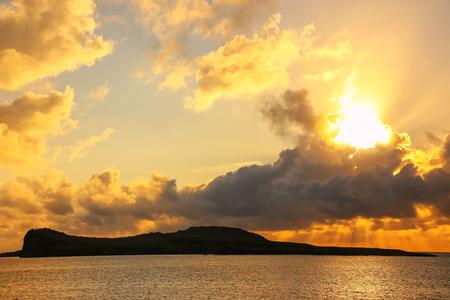Sunrise at Gardner Bay on Espanola Island, Galapagos National park, Ecuador.