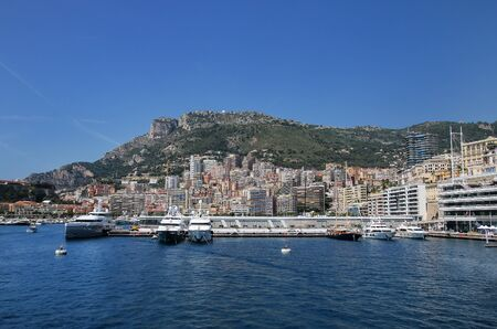 View of La Condamine ward and Port Hercules in Monaco. Port Hercules is the only deep-water port in Monaco