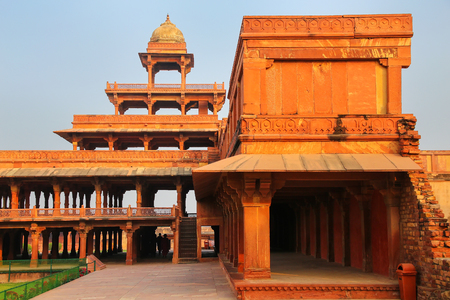 Panch Mahal in Fatehpur Sikri, Uttar Pradesh, India. Fatehpur Sikri is one of the best preserved examples of Mughal architecture in India. Editorial