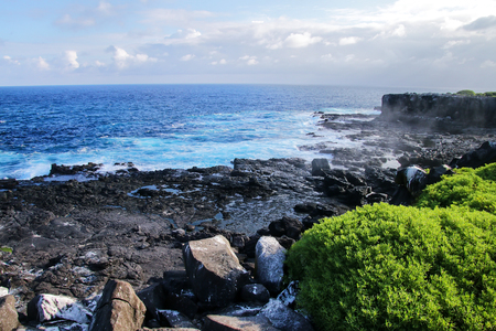 Coast of Espanola Island in Galapagos National park, Ecuador.