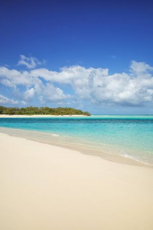 Sandy beach on the shore of Ouvea lagoon, Ouvea Island, Loyalty Islands, New Caledonia.