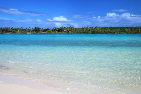 View of Faiava Island from  Ouvea, Loyalty Islands, New Caledonia. Faiava Island has a land area of only around 50 acres.