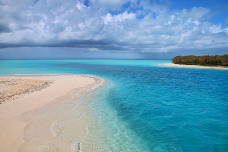 Channel between Ouvea and Mouli Islands flowing into Ouvea Lagoon, Loyalty Islands, New Caledonia.