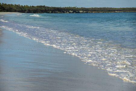 Fayaoue beach on the coast of Ouvea lagoon, Mouli and Ouvea Islands, Loyalty Islands, New Caledonia.