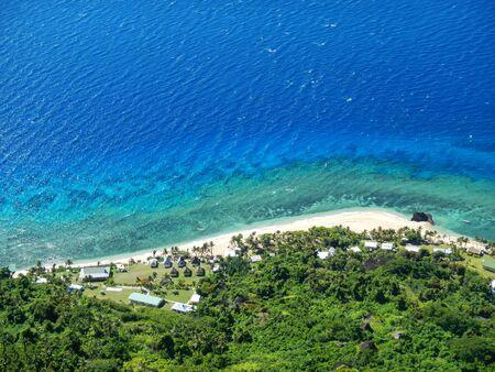 View of Wayasewa Island coastline from Vatuvula Volcano, Yasawa Islands, Fiji