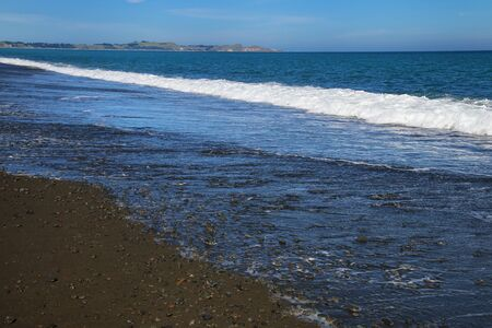 Peketa Beach near Kaikoura, South Island, New Zealand Stok Fotoğraf