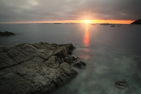 Sunrise on Kaikoura peninsula, South Island, New Zealand. The area is a popular ecotourism destination