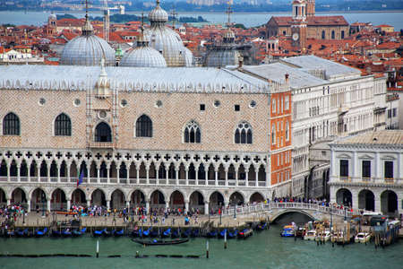 Palazzo Ducale at Piazza San Marco in Venice, Italy. The palace was the residence of the Doge of Venice. Stock Photo
