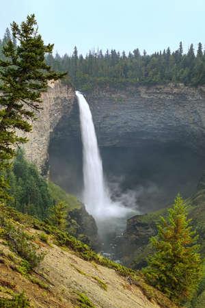 Helmcken Falls on Murtle River in Wells Gray Provincial Park, British Columbia, Canada. It is fourth largest park in British Columbia. Stock Photo