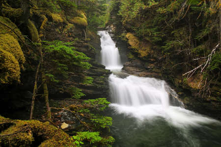 Sticta Falls in Wells Gray Provincial Park, British Columbia, Canada. It is fourth largest park in British Columbia.