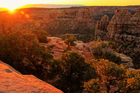 Colorado National Monument at sunrise, Grand Junction, USA