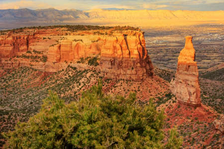View of Wedding Canyon and Sentinel Spire in Colorado National Monument, Grand Junction, USA