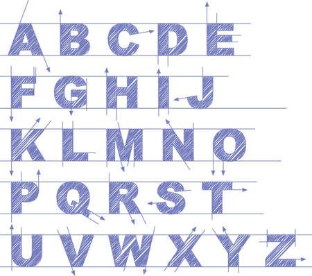 draft type set Illustration