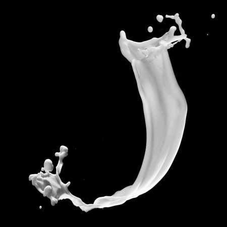 one letter from milky alphabet Standard-Bild