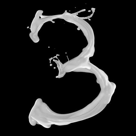 one number from milky alphabet