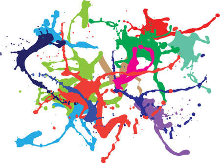 Colourful ink splat design Vector