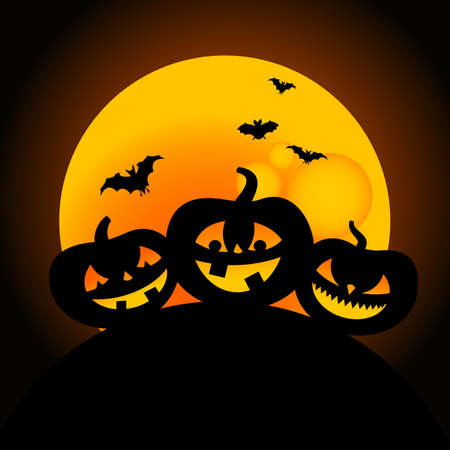 illustration of happy halloween pumpkin design