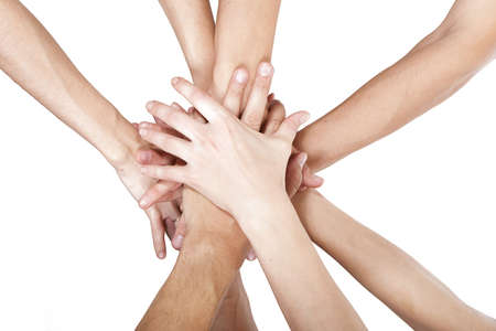 concept foto van succes teamwork Stockfoto