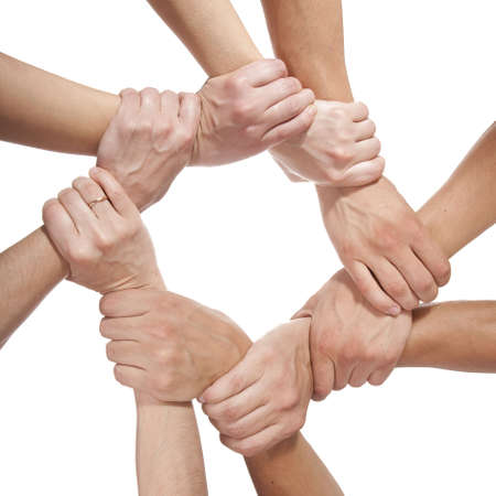 concept photo of success teamwork isolated on white background Stock Photo - 5592861