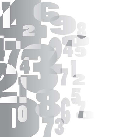 abstract vector mathematical background with random numbers Vector