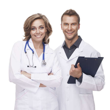 doctors smiling: Portrait of a smiling doctors
