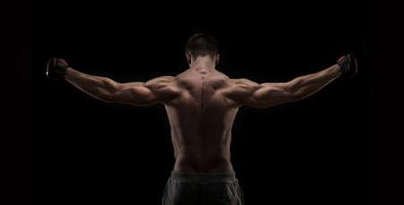 m�nner nackt: Muskul�ser Mann von hinten