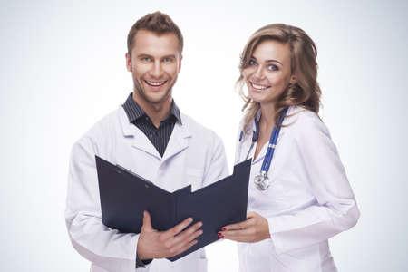 Portrait of a smiling doctors
