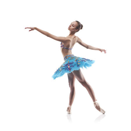beautiful ballet dancer isolated Stock Photo - 16754807