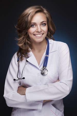 smiling woman doctor Standard-Bild