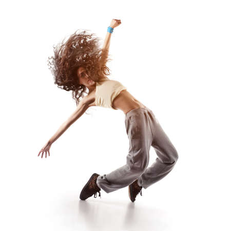 bella donna ballerina isolato su bianco