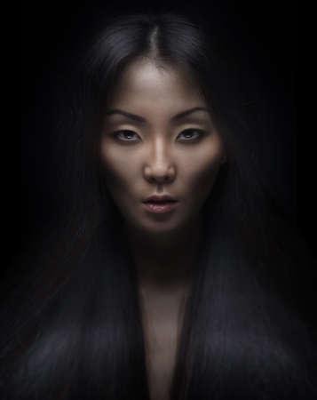 Mooie jonge Aziatische vrouw Stockfoto