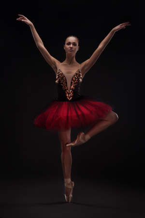 beautiful woman ballet dancer 스톡 콘텐츠