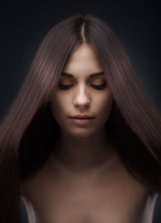 Beautiful woman with long hair Stock Photo - 18665541