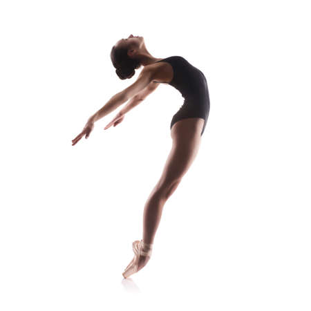 female gymnast: Young balet dancer