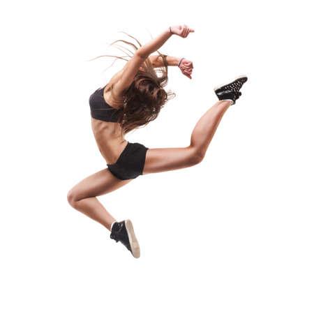 mujer deportista: hermosa bailarina de danza moderna