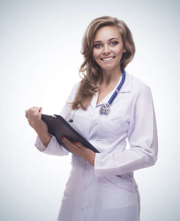 smiling woman doctor Stock Photo - 18737697